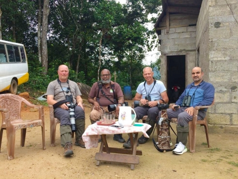 Abdul Rahman,Chris Lansdell , Graham Sorrie and Hetti in Tissamaharama