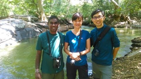 EK and Michele with Dhammika