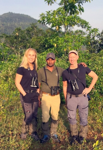 Lasse and Zita at Kitulgala with Thilina