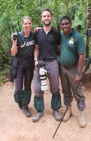 Caroline, Markus & Dammika in Sinharaja