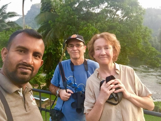 Anny Kilbourne and Ian Dodds with Thilina