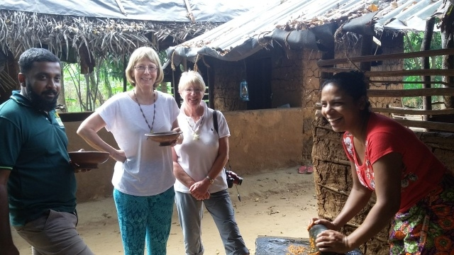 Christine and Carole with Chameera