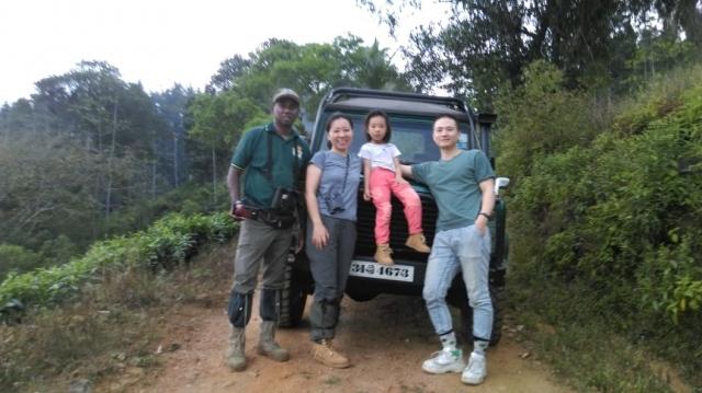 Kathy Liu and family with Dammika
