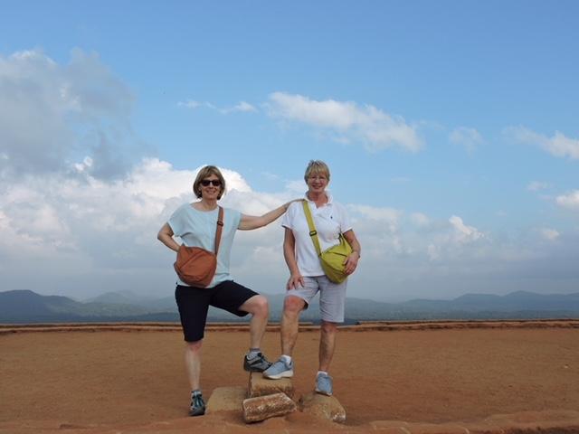 Christine and Carole in Sri Lanka